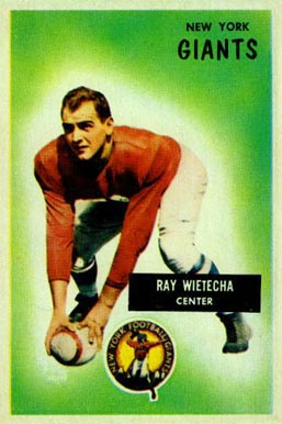1955 Bowman Ray Wietecha #24 Football Card