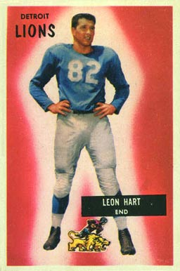 1955 Bowman Leon Hart #19 Football Card