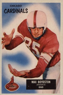 1955 Bowman Max Boydston #18 Football Card