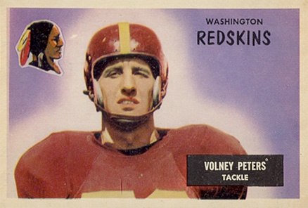 1955 Bowman Volney Peters #17 Football Card