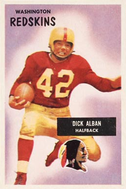 1955 Bowman Dick Alban #12 Football Card