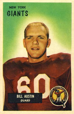 1955 Bowman Bill Austin #11 Football Card