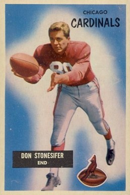1955 Bowman Don Stonesifer #9 Football Card
