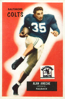 1955 Bowman Alan Ameche #8 Football Card