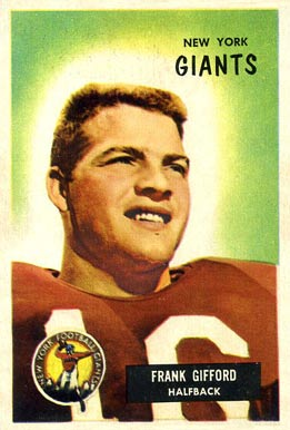 1955 Bowman Frank Gifford #7 Football Card