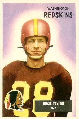 1955 Bowman Hugh Taylor #6 Football Card