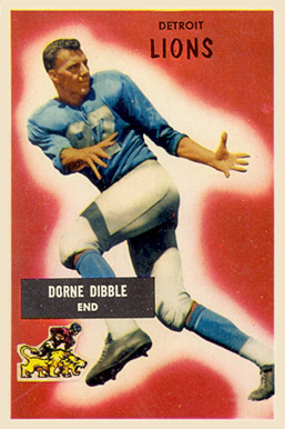 1955 Bowman Dorne Dibble #4 Football Card