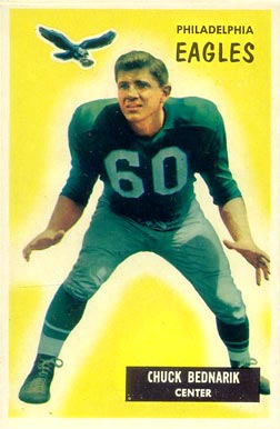 1955 Bowman Chuck Bednarik #158 Football Card