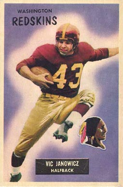 1955 Bowman Vic Janowicz #133 Football Card