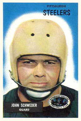 1955 Bowman John Schweder #130 Football Card