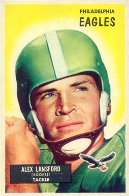 1955 Bowman Buck Lansford #126 Football Card