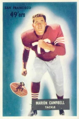 1955 Bowman Marion Campbell #94 Football Card
