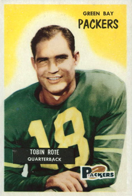 1955 Bowman Tobin Rote #74 Football Card