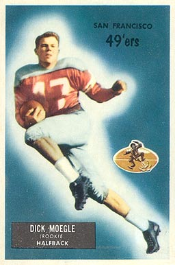 1955 Bowman Dick Moegle #48 Football Card