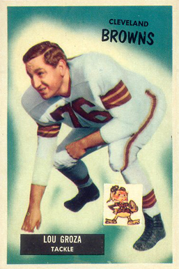 1955 Bowman Lou Groza #37 Football Card