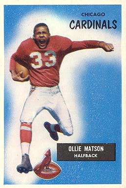 1955 Bowman Ollie Matson #25 Football Card
