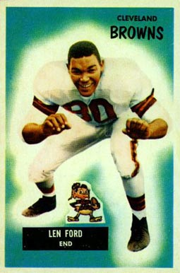 1955 Bowman Len Ford #14 Football Card