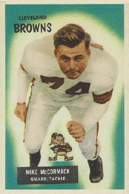 1955 Bowman Mike McCormack #2 Football Card
