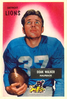 1955 Bowman Doak Walker #1 Football Card