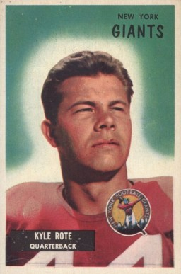 1955 Bowman Kyle Rote #137 Football Card