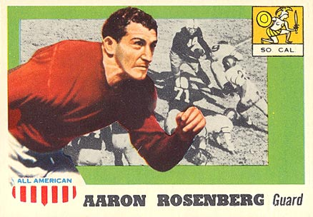 1955 Topps All-American Aaron Rosenberg #13 Football Card