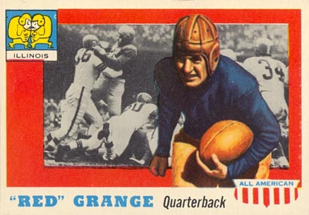 1955 Topps All-American Red Grange #27 Football Card