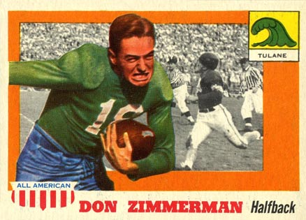 1955 Topps All-American Don Zimmerman #49 Football Card