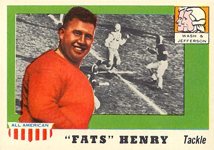 1955 Topps All-American Fats Henry #100 Football Card
