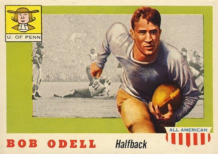 1955 Topps All-American Bob O'Dell #91 Football Card