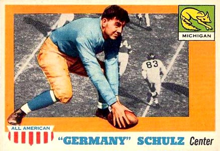 1955 Topps All-American Adolph Schulz #87 Football Card