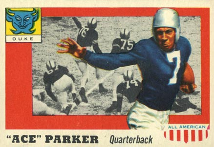 1955 Topps All-American Ace Parker #84 Football Card