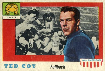 1955 Topps All-American Ted Coy #83 Football Card