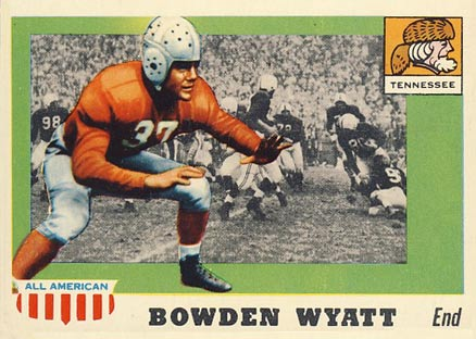 1955 Topps All-American Bowden Wyatt #77 Football Card