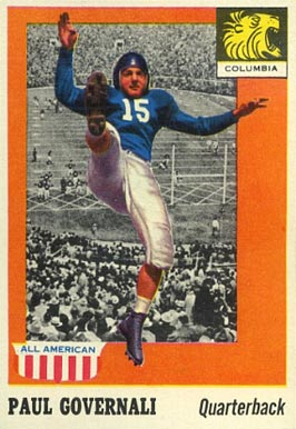 1955 Topps All-American Paul Governali #73 Football Card