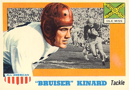 1955 Topps All-American Bruiser Kinard #66 Football Card