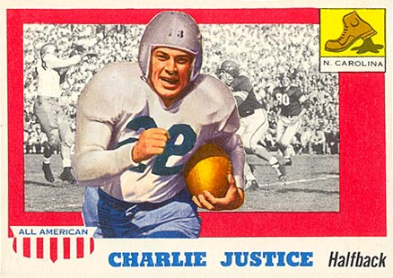 1955 Topps All-American Charlie Justice #63 Football Card