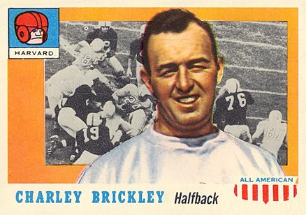 1955 Topps All-American Charles Brickley #61 Football Card