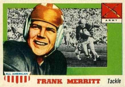 1955 Topps All-American Frank Merritt #55 Football Card