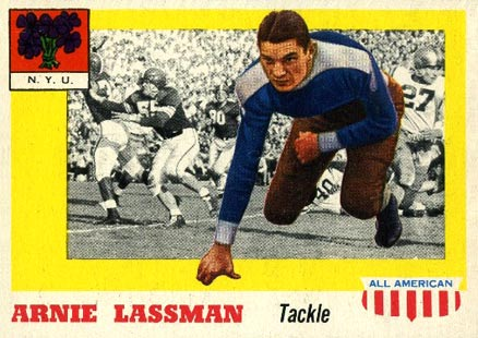 1955 Topps All-American Arnie Lassman #46 Football Card