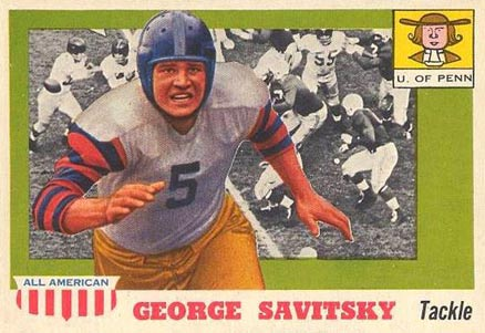 1955 Topps All-American George Savitsky #43 Football Card