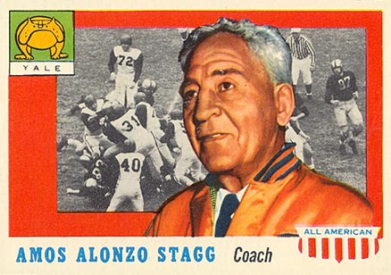 1955 Topps All-American Amos Alonzo Stagg #38 Football Card