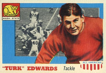 1955 Topps All-American Turk Edwards #36 Football Card