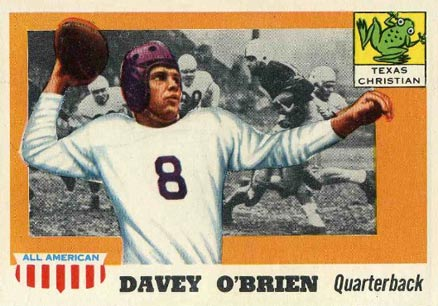 1955 Topps All-American Davey O'Brien #34 Football Card