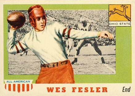 1955 Topps All-American Wes Fesler #30 Football Card