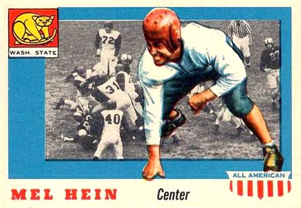 1955 Topps All-American Mel Hein #28 Football Card