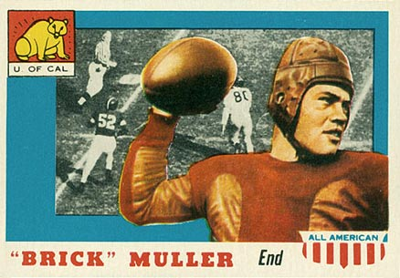 1955 Topps All-American Brick Muller #22 Football Card