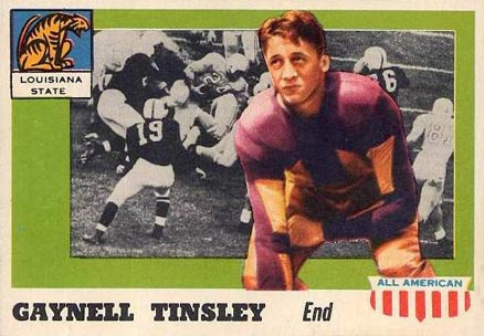 1955 Topps All-American Gaynell Tinsley #14c Football Card