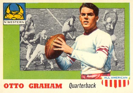 1955 Topps All-American Otto Graham #12 Football Card