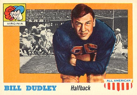 1955 Topps All-American Bill Dudley #10 Football Card