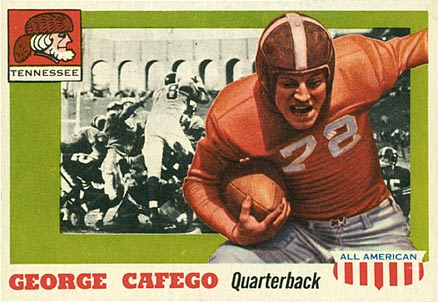1955 Topps All-American George Cafego #8 Football Card